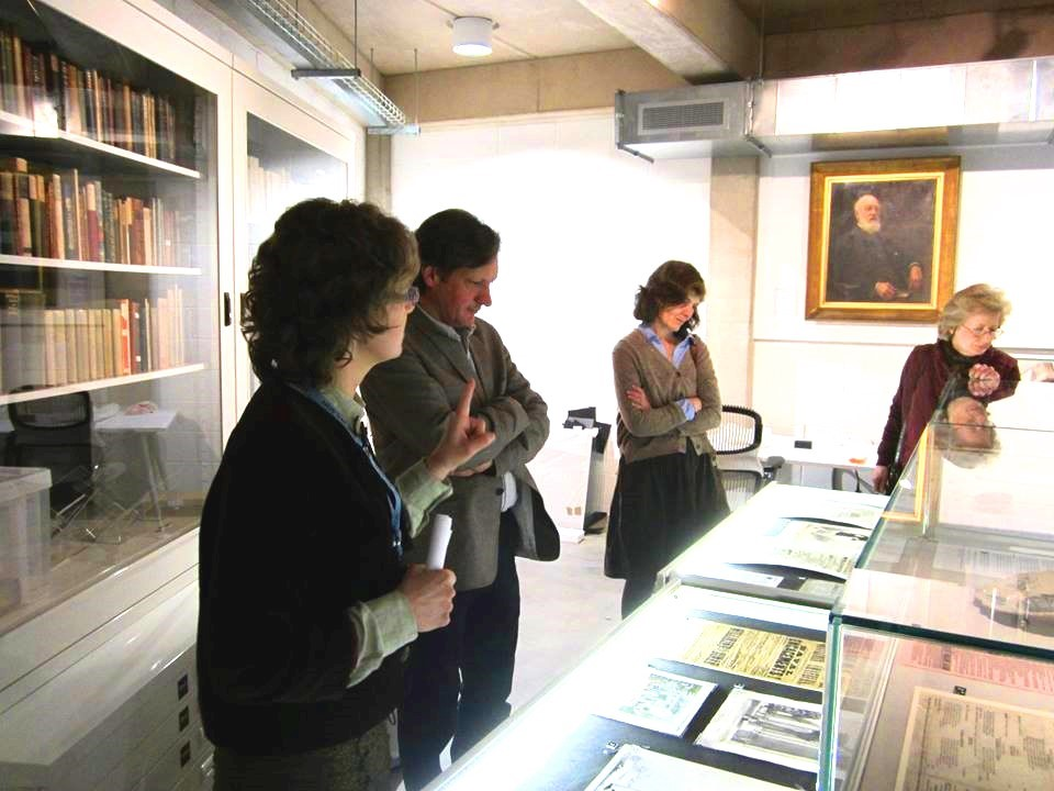 New Friends are given a private tour of the Paper Store by curator Ann -Rachael